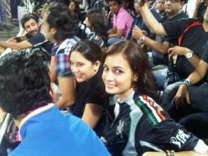 Dia Mirza during IPL-match